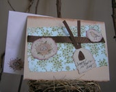 Mother's Day bird and nest card.hand made