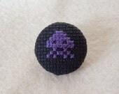 Shifting Purple Invader Pin