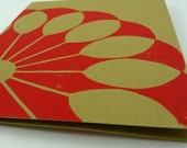 Fan Card - Juicy Red and Olive Green