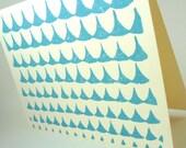 Rain Drops Card - Sky Blue