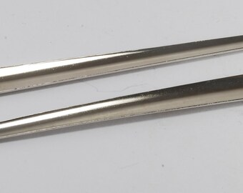 Vintage Silver Metal Curved Hair Sticks Pins Hair Accessories Pair