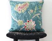 ARYA VINE Linen Cushion Cover, Throw Pillow 45 x 45 cm, 18 inch