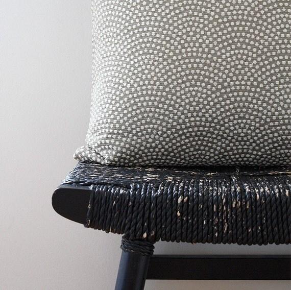 KHAKI PEBBLE BEACH Cotton Silk Rayon Cushion Cover 63 x 34 cm