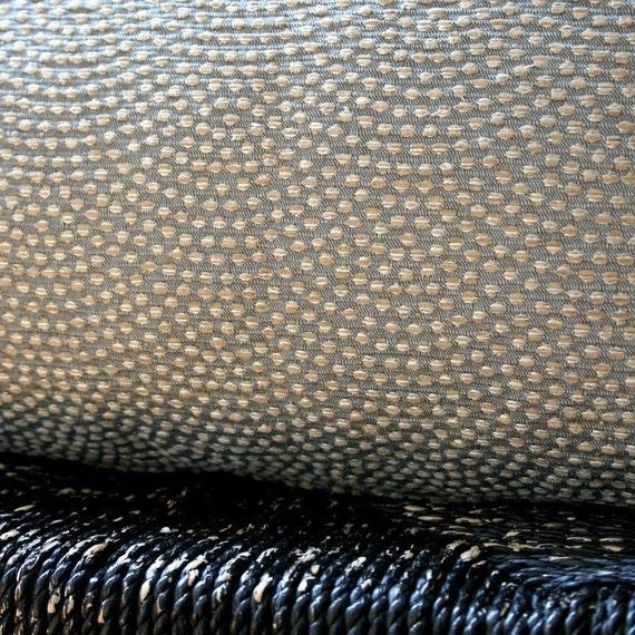 GREY PEBBLE BEACH Cotton Silk Rayon Cushion Cover 45 x 45 cm