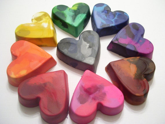 Heart Crayons - Lil Scribblers (TM) - Set of 9