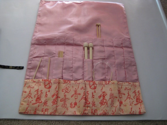 Knitting needle Roll CASE (three layers)