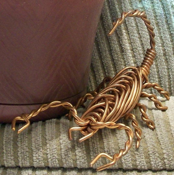 Large Copper Cable : Large copper wire scorpion