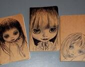 Set of 3 Blythe Moleskine Cahier for all lovers of Blythe dolls