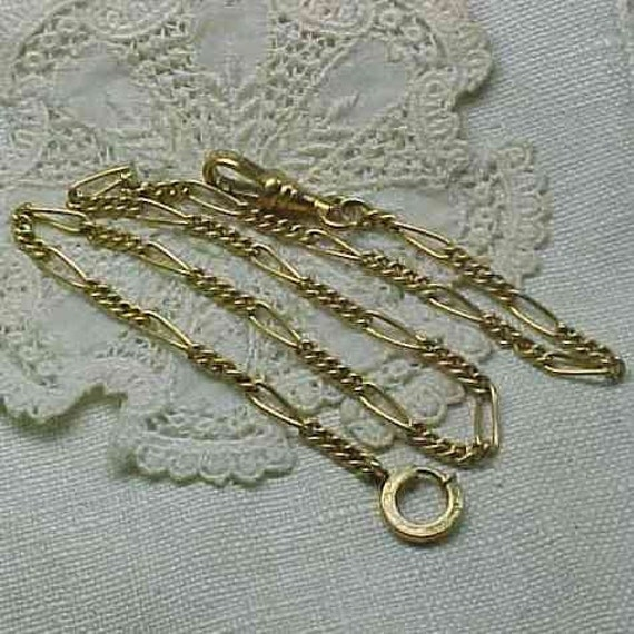 Vintage Pocket Watch Fob Chain Gold Filled Sturdy