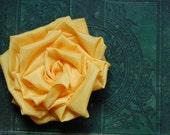 Sunny Yellow Rosette Hair Pin