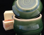 Spring Green Swirl Butter Crock