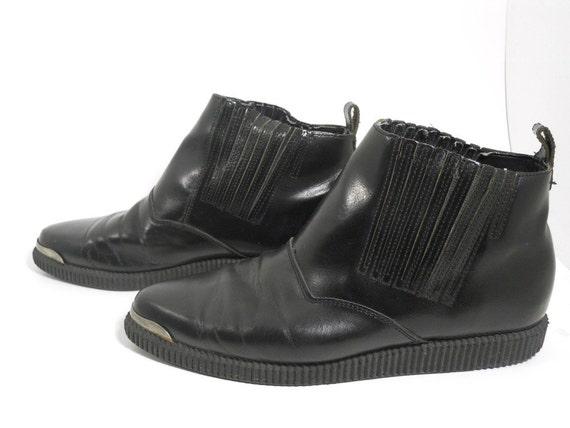 Vintage 1980s High top Mens Creepers Ankle Boots Sz. 9.5 us