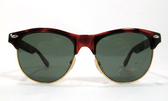 Vintage NOS Tortoise Clubmaster Wayfarer style Sunglasses