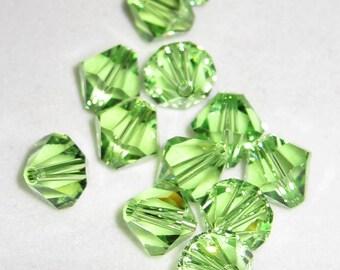 Swarovski Crystal Peridot Bicone - Set of 12- 8mm