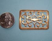 8 pcs., Vintage Large Moorish Brass, Open Work Topper, Stamping
