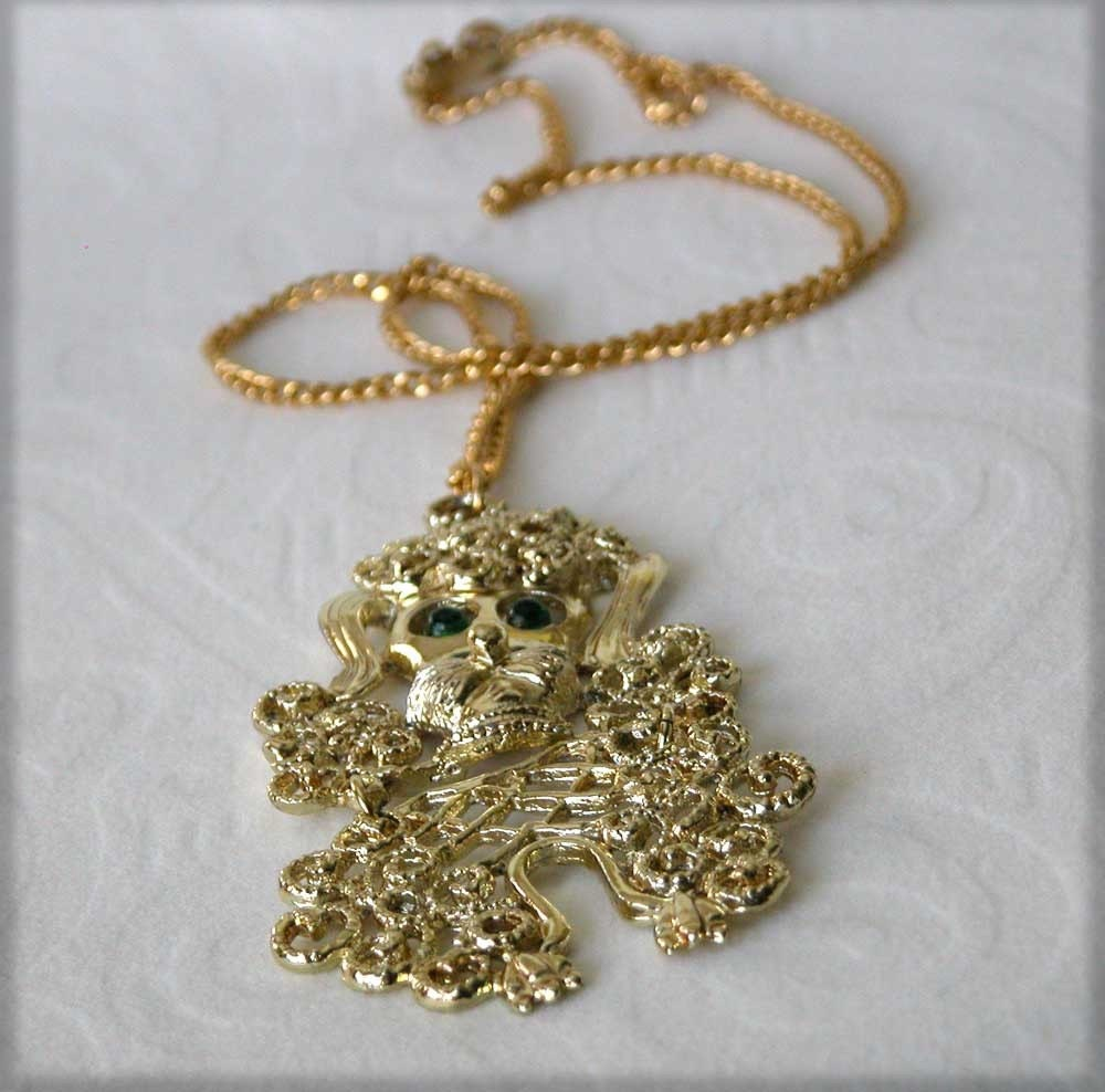 poodle necklace vintage