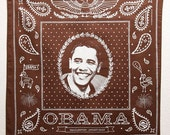 Brown Obama Bandanna