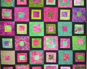 Art Quilt Square Wall Hanging