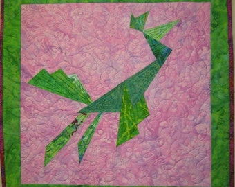 Origami Bird Wall Hanging Art Quilt