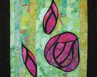 Rose Wall Hanging Art Quilt