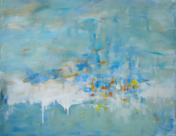 Oil Painting, Large, Original, Modern, Abstract, Contemporary, Ocean Memories, Free Shipping