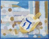 Hanukkah Cards, Dreidel 4 count SALE