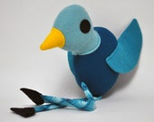 Nighttime Dewey Bird - Plush- RESERVED for Chantal
