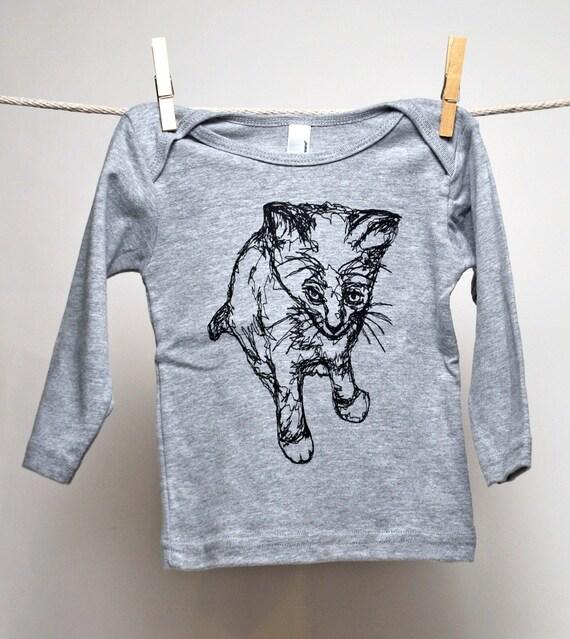 Kitty Thread Drawing -L/S Lap Tee  (Summer Sale)