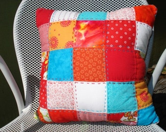 Bright Patchwork Pillow