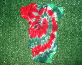 18mo. Christmas Tie Dye Bodysuit