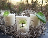 NEW Organic MY CLEMENTINE  vegan all natural soybean votive candle essential oils holistic botanical eco friendly earthy aromatherapy