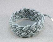 grey BASIC turks head sailor knot bracelet adjustable size 1359 - WhatKnotShop