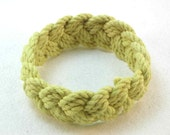 pale lemon yellow cotton turks head knot rope bracelet medium 2099