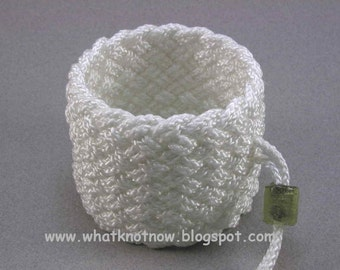 extra wide rope cuff bracelet slip on wrist band woven knot armband knot work wristband nautical jewelry 800