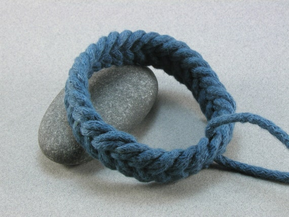 blue herringbone weave sailor bracelet LG 804