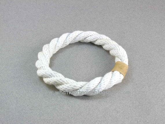 white cotton grommet rope bracelet 1920