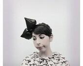 Silk Lapin Bow in black  by It's Ok My Dear