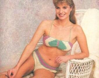 1991 Crochet Bikini Pattern PDF