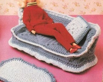Vintage Barbie Furniture Crochet Pattern