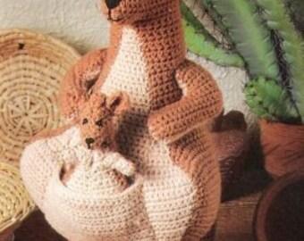 Vintage Crochet Pattern Kangaroo