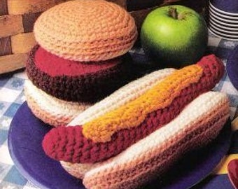 Vintage Crochet Pattern Picnic Food