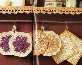 Vintage Crochet Pattern Potholders