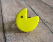 Pac Man ring Cute pacman ring great gift for 1980s pacman fan