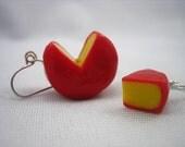 Cheese Wheel Earrings