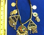 Vintage Antique Middle Eastern Kuchi Necklace Belly Dance ATS Tribal