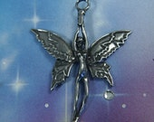 """Fairy Necklace Genuine Pewter Soaring Fairy Pendant on 18 - 24"""" chain your choice"""