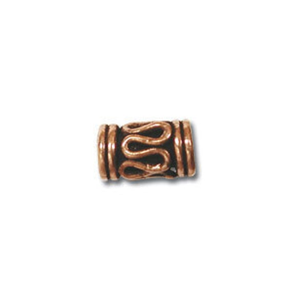 Bali Style 8X5mm solid copper tube bead spacer