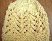 Butter Yellow Machine Washable Knit Newborn Hat
