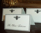Wedding Place Cards, BEE Escort Cards set 60 Napoleonic Decor Entertaining Seating Cards Placecards Vintage Inspired Country Rustic Wedding
