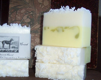 Coconut Lime Goats Milk Soap CocoLime Smoothie Big 5-6 oz.Bar Handmade Scented Soap with Emu oil